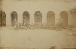 Group in convict boys' school, Central Prison, Lucknow, Oudh